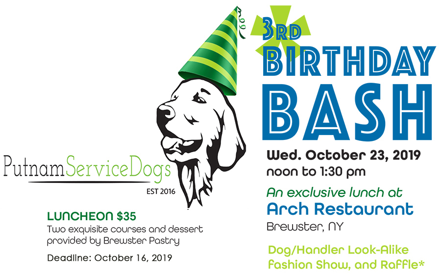 Putnam Service Dogs 3rd Birthday
